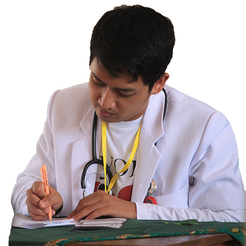 処方箋を書く医師